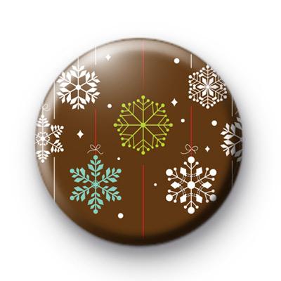 Snow Snowy Flakes Badges