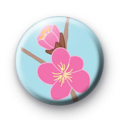 Soft Pink Floral Badge