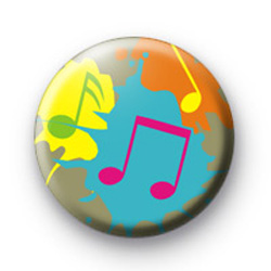 Paint splash musical notes badge