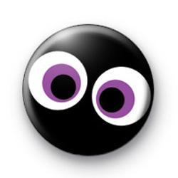 Purple Spooky Eyes Badge