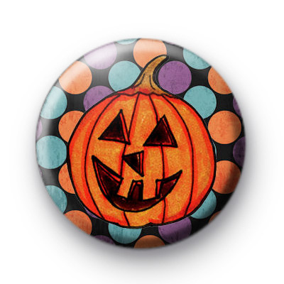 Spooky Spotty Halloween Button Badges