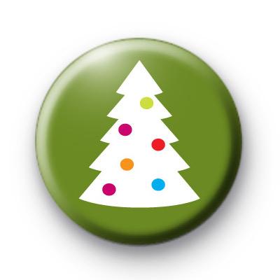 Spotty Modern Xmas Tree Badge