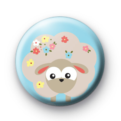 Spring Sheep Button Badges