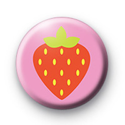 Red Strawberry Badge