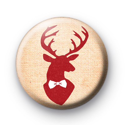 Red Stag Button Badges