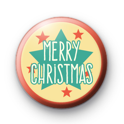 Starry Merry Christmas Button Badge