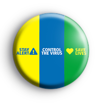 Stay Alert Control The Virus and Save Lives Badge