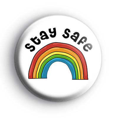 Stay Safe Rainbow Badge : Kool Badges
