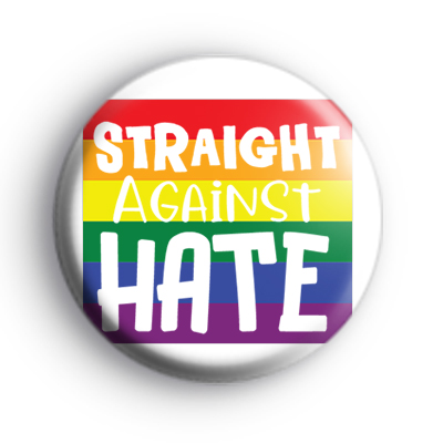 Straight Against HATE Badge