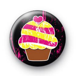 Pink and Yellow Yummy Cupcake badge