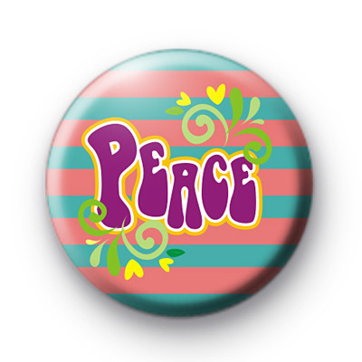 Purple Peace Button Badges