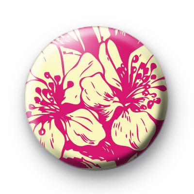 Stunning Pink Floral Pattern Badges