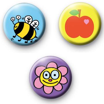 Set of 3 Summer Badges