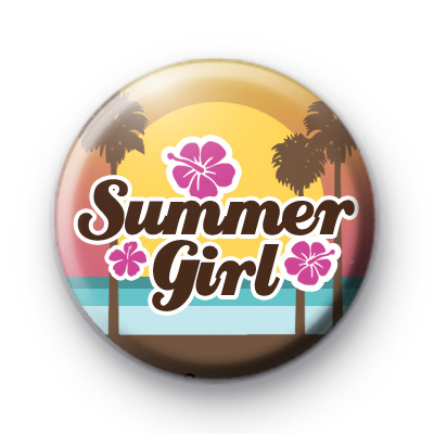 Summer Girl Beach Badge