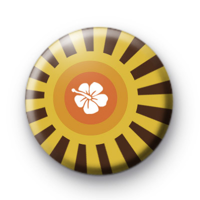 Sun Floral Pattern Badges