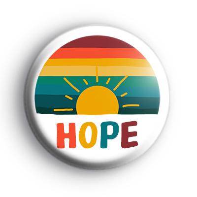 Sunrise Rainbow HOPE Badge
