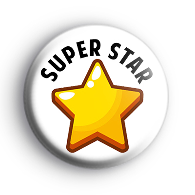 Super Star Gold Star Badge