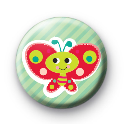 Super Cute Red Butterfly Badges