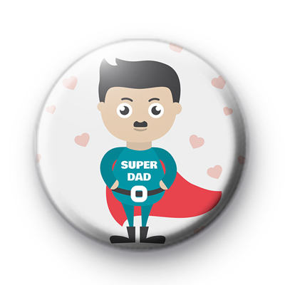 Superdad Superhero Button Badges