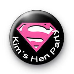 Supergirl Hen Party Badges