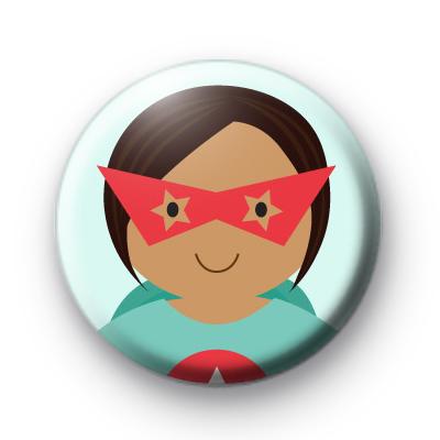 Superhero Girl Pin Badge