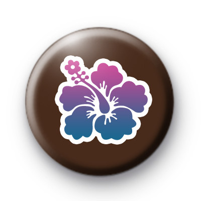Cute Purple Surf Girl Flower Badge