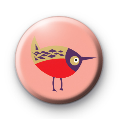 Modern Style Bird Pin Badge
