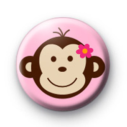 Sweet Monkey Face Button Badges