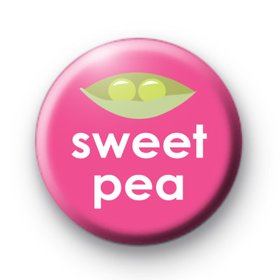 Sweet Pea Button Badges