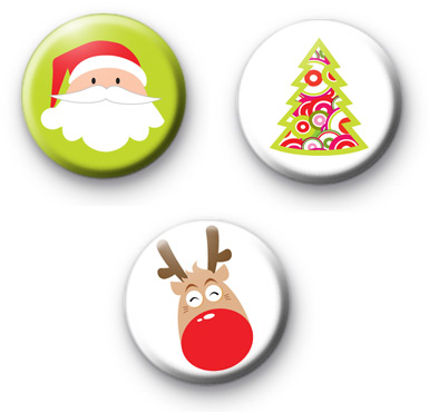 Sweet Christmas Set of 3 badges