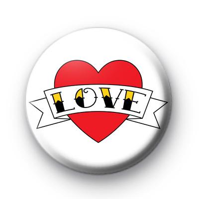 Tattoo Style Love Heart Badge