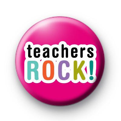 Bright Fun Teachers Rock Badge