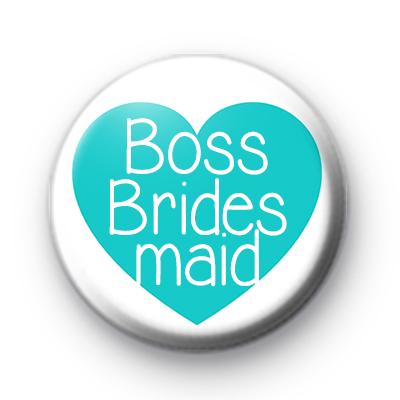 Teal Heart Boss Bridesmaid Badge