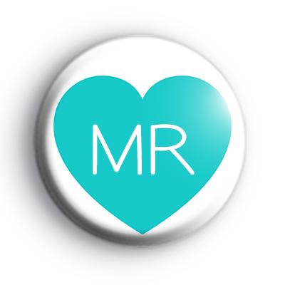 Teal Heart Mr Badge