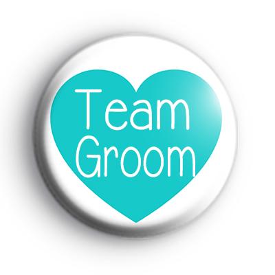 Teal Heart Team Groom Badge