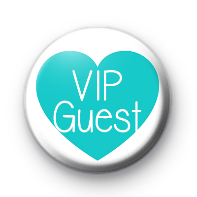 Teal Heart VIP Guest Badge