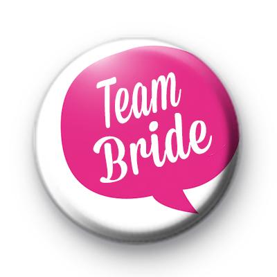 Speech Bubble Team Bride Badge