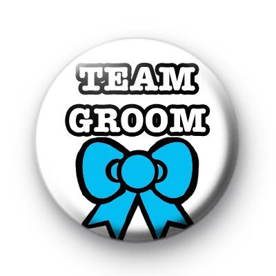 Team Groom Blue Bow Badge
