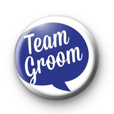 Speech Bubble Team Groom Button Badge