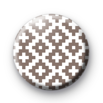 Retro Tetris Pattern Badge