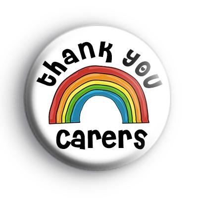 Thank You Carers Rainbow Badge