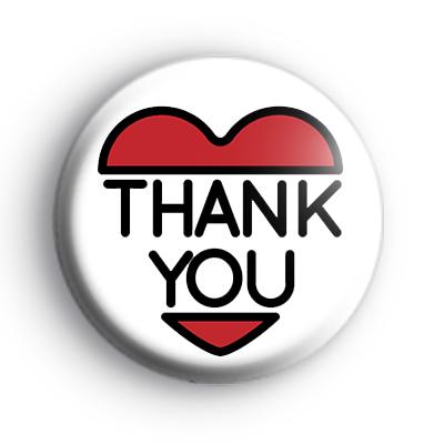 Thank You Heart Badge