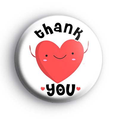 Thank You Love Heart Badge