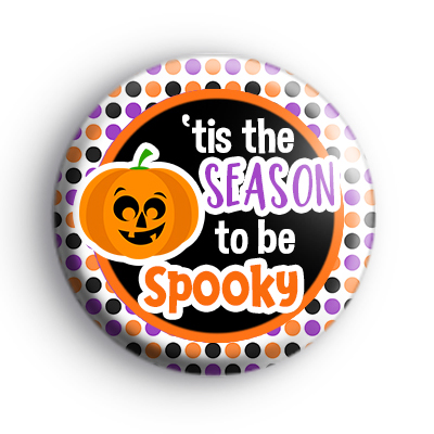 Spooky Season Pumpkin Badge