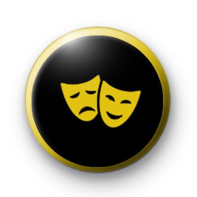 Theatre Happy and Sad Masks Badge