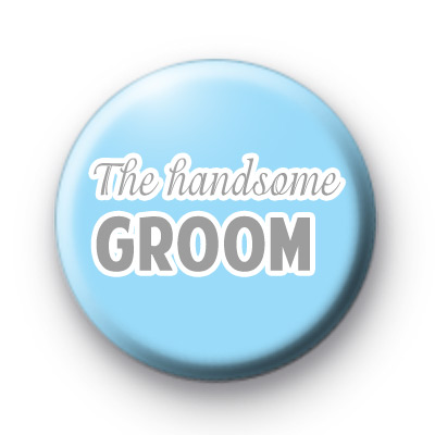 Blue and Grey The Handsome Groom badge