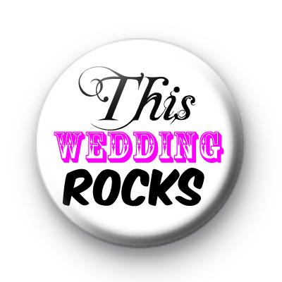 This Wedding Rocks badge