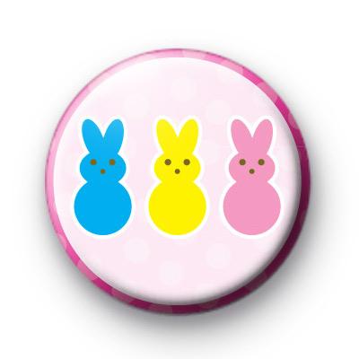 Three Cute Easter Bunnies Badges