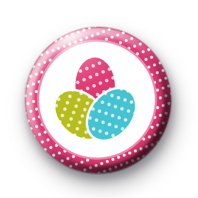 Three Easter Eggs Badges