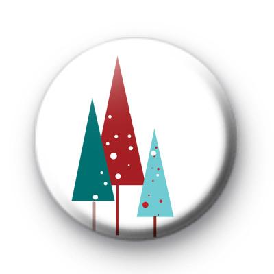 Three Christmas Trees Button Badge